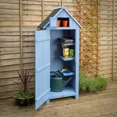 CHRISTOW Slimline Garden Shed, Outdoor Tool Storage, Compact Utility Sentry with Lockable Door and Roof Hatch Small Garden Uk, Narrow Garden, Small Space Gardening, Small Patio, Garden Spaces, Outdoor Tool Storage, Outdoor Tools, Small Garden Storage Ideas, Outdoor Sheds