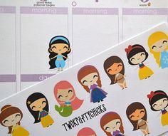 16 Princess Planner stickers by TwoKraftyChicks on Etsy