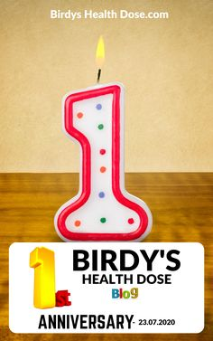 Hi everyone, for all the followers of this blog (old, and new), I just want to announce to you that today is the Birdys Health Dose 1st anniversary!  So, we are growing up! I want to thank you all very much for your interest on following this blog, I hope you will continue to do so, and I promise that I will continue to offer you interesting and useful articles.