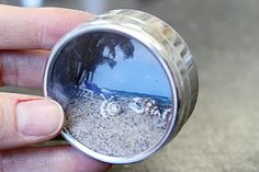 Mini Shadow Box Fridge Magnet for travel sand! @ DIY Home Cuteness Genius! Take a photo of the beach you were visiting and place in a shadow box, add sand from the beach and any other tidbits you collected, sea shells, ect. DaddDan360 - Beach Photo Decor @ ✴ http://www.zazzle.com/daddydan/gifts?cg=196029701307389769 ✴ http://society6.com/daddydan✴