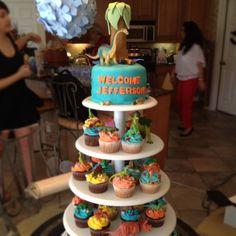 Dinosaur baby shower cake!