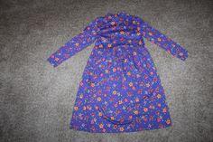 Hanna Andersson Girls Long Sleeve Purple Floral Dress Size 140 9-11 #HannaAndersson #Everyday