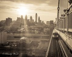 Leaving Philadelphia - Philadelphia Photography - Fine Wall Art - Vintage - Black and White