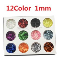 12Color 1mm Manicure Sequins Nails Spangle Paillette Nail Art Decoration Round Glitter Metal Shiny Powder Free Shipping