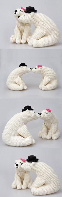 Kissing Bears Amigurumi Pattern
