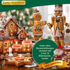 Käthe Wohlfahrt - Jetzt für den Newsletter registrieren und an der Verlosung von 3 mal 10 Weihnachtskarten teilnehmen!