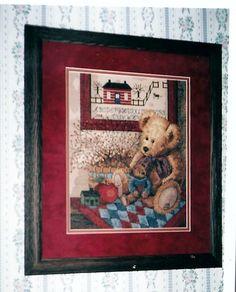 "Sunset Counted Cross Stitch ""Old Teddies"" designed by Anna Krajewski,  October 2002"