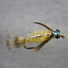 """Image of Defranks Flashback Hex Nymph Fly Used On Our Steelhead Fishing Guide Trips"