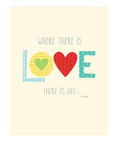 Yes. :: 'Where There Is Love' Print