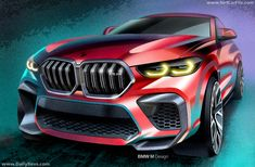 BMW M and M debut with Competition versions – up to 617 hp, 750 Nm; km/h from Paul Tan - Image 1024325 Bmw X6, Bmw Sketch, Car Design Sketch, Bmw Accessories, Bmw Parts, New Bmw, Automotive News, Car Painting, Cars