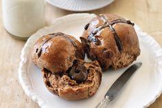 Chocolate-filled Hot Cross Buns Recipe - Taste.com.au