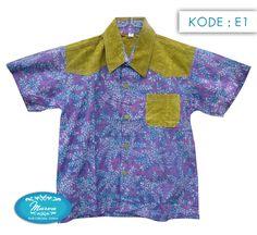 Kemeja Batik Anak dengan motif Batik Pekalongan produk