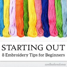 Ribbon Embroidery For Beginners crewel embroidery designs Simple Embroidery, Learn Embroidery, Silk Ribbon Embroidery, Crewel Embroidery, Cross Stitch Embroidery, Embroidery Thread, Beginner Embroidery, Eyebrow Embroidery, Embroidery Letters