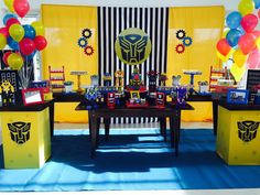 Decoração festa Transformers R$350