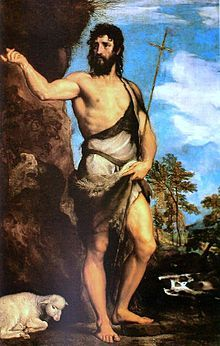 A 1542 painting of John the Baptist by Titian