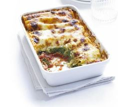 spinach and ricotta cannelloni with mascarpone cheese sauce - recipe Spinach And Ricotta Canneloni, Spinach Cannelloni, Cannelloni Recipes, Bbc Good Food Recipes, Vegetarian Recipes, Cooking Recipes, Healthy Recipes, Freezable Meals, Freezer Meals