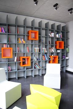 DraugiemGroup's Riga Headquarters - storage  Cool shelves!