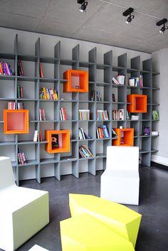 DraugiemGroup's Riga Headquarters - storage  Cool shelves!