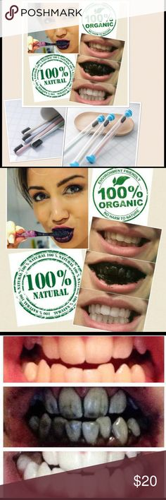 Activated Charcoal Powder & Toothbrush Activated charcoal is 100% all natural, organic teeth whitener which is an oxidized version of charcoal used to effectively whiten teeth. It removes external stains from your teeth without toxic chemical ingredients used in commercial teeth whitening products. This helps reduce things that cause cavities, gum disease and bad breath. Naturally whitens & polishes teeth, strengthens enamel & detoxifies your mouth. Odorless, tasteless & nontoxic. Depending…