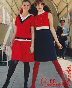 October 1968. 'Brisk, brash young fashionings that flaunt their clean cut lines in a can't be beat blendership…'