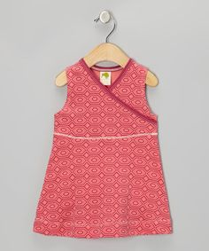 Take a look at this Pink Topaz Diamond Organic Surplice Dress - Infant, Toddler & Girls by Kiwi Industries on #zulily today!