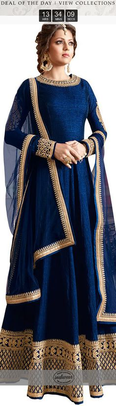 Love this blue anarkali