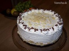 Nepecena torta Malakoff (fotorecept) Dessert Recipes, Desserts, No Bake Cake, Vanilla Cake, Nutella, Mousse, Cheesecake, Food And Drink, Cooking Recipes