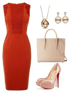 """Beautiful Office Day"" by taniaisabel-1 on Polyvore featuring Karen Millen and Christian Louboutin"