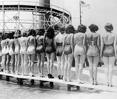 Women circa 1935: Swimsuit styles has come and go, but these women show looking hot in swimwear is totally timeless. Take in these 80 vintage babes in bathing suits to get in the summer mood.