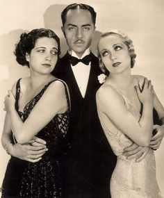 """don56: """"Kay Francis, William Powell and Carole Lombard in a publicity still for """"Ladies' Man"""" (1931) """""""