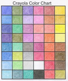 A great little chart for colored pencils