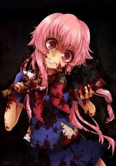 this is so accurate! Yuno Gasai - Mirai Nikki / Future Diary