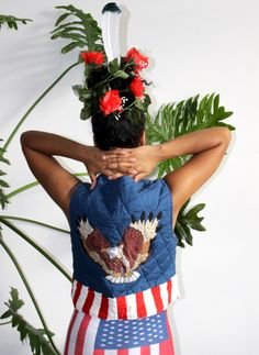 A personal favorite from my Etsy shop https://www.etsy.com/listing/262535931/70s-reversible-americana-eagle-patchwork
