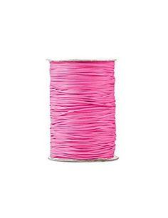 Zacoo Gewachste Baumwolle kordel Schnur 170m Hot Pink 1mm
