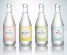 Hwila mineral water packaging by Neumeister by genesis duncan