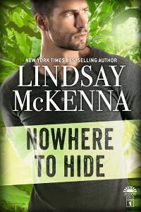 Nowhere to Hide (Delos Series Book 1) designed by Tammy Seidick | JF: A strong cover that knows what appeals to readers, with great type choices and clever details that add to the overall effect. The man is attractive without taking his shirt off, and it looks an exciting story. ★