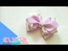 Beautiful Ribon Bow How To Make | DIY by Elysia Handmade - YouTube