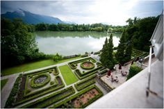 Terrace of Schloss Leopoldskron in Salzburg, used as the film location of the back of the von Trapp home.
