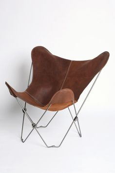 UO Lux Leather Butterfly Chair #urbanoutfitters
