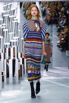 Ms. Katrantzou, who recently designed costumes for a ballet at Paris's Opera Bastille, shows her spring 2017 collection.