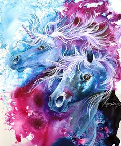 Unicorn Magic Painting by Sherry Shipley - Unicorn Magic Fine Art Prints and Posters for Sale