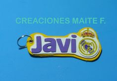 FOFUCHAS. Manualidades y Creaciones Maite: LLAVERO personalizado en goma eva Real Madrid