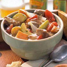 Hearty Pork-Beer Stew; Eat smart from Diabetic Living