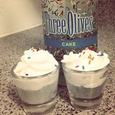 Cake vodka shots - Three Olives Vodka