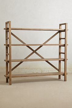 Rustic reclaimed bookcase.      Anthropologie