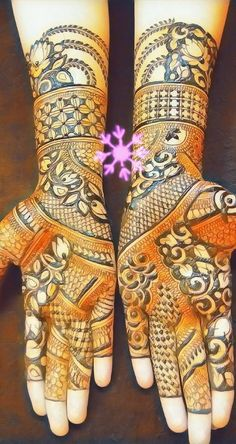 Easy and Unique Brown Mehndi Designs of Hands & Feet for 2018