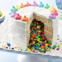 Surprise on the Inside Gender Reveal Cake recipe from Betty Crocker