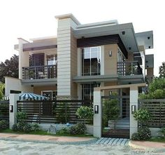 Brilliant Modern Home Design - Architecture.Most people like several home architectural styles. Modern House Plans, Modern House Design, Facade House, House Front, Modern Architecture, Amazing Architecture, Exterior Design, Future House, Beautiful Homes