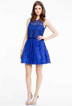 SHORT LACE DRESS WITH KEY HOLE BACK #homecoming #dresses #shortdress #style #fashion #blue # lace