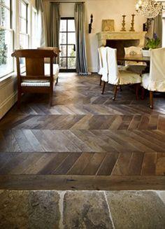 reclaimed wood & stone floors